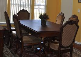 traditional elegant 6 chair dining table for sale in