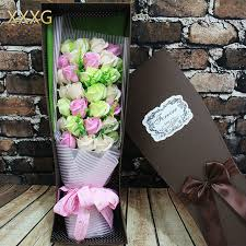 bouquet of roses xxxg day 33 soap flower bouquet of roses birthday gift box to