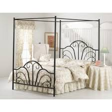 Iron Canopy Bed Dover Textured Black Metal Canopy Bed Free Shipping Today