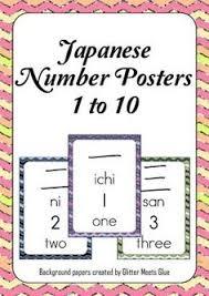kindergarten learn japanese numbers worksheet printable learning