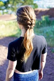 gorgeous ways to style long hair workout hairstyles easy peasy