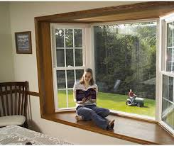 Bow Windows Inspiration Two Sash Windows On Either Side And A Push Out Window In The