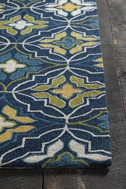 Green And Brown Area Rugs Terra Collection Hand Tufted Area Rug In Blue Green Yellow
