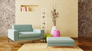 light colored furniture and plants create a homey feeling around