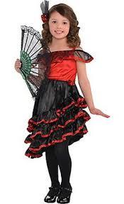 Girls Halloween Costumes Long Flowing Gold Costumes Girls Spanish Flamenco Dancer
