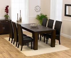 modern glass dining table quilted astounding wood dining table and 6 chairs 7607 at cozynest home