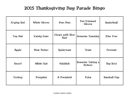 thanksgiving parade bingo 2015 divascuisine