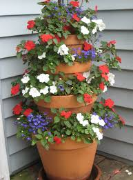 Fragrant Plants For Pots - how to make a terracotta pot flower tower with annuals flower