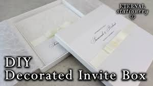 wedding invitations box how to decorate your own invitation box with a bow diy