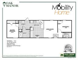 Floor Plans For Mobile Homes Single Wide Mobility Homes Ada Friendly Home Designs