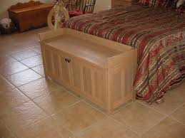 build your own craftsman style storage bench to set by the foot of