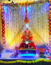 decoration themes for ganesh festival at home image result for ganpati decoration ideas for home with lights