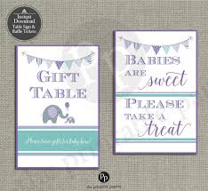 baby shower table signs 5x7 baby shower treat sign u0026