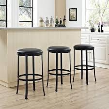 cushioned bar stool crosley furniture windsor bar stool black black cushion