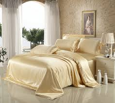 beige champagne color 100 heavy mulberry silk bedding sheets set
