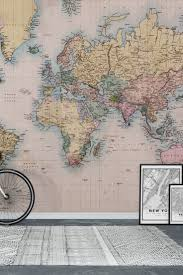 33 best map wall murals images on pinterest photo wallpaper vintage world map wall mural wallpaper