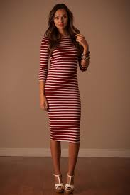 red white stripe dress affordable modest boutique clothes for