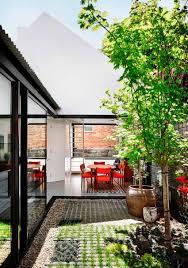interior indoor garden tree green plant flower dining room rock