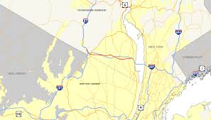 New York Thruway Map by New York State Route 59