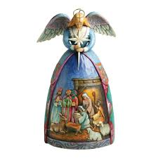 amazon com jim shore heartwood creek angel with nativity gown