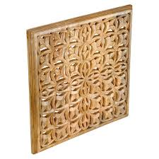 find the large carved wooden wall panel by ashland at