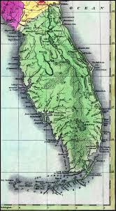 St Augustine Florida Map by St Johns County 1827
