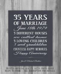 35 wedding anniversary 35 wedding anniversary gift wedding definition ideas