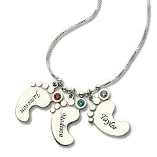 baby personalized jewelry mothers necklace baby charm