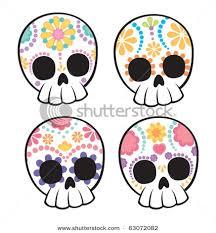 pretty sugar skull drawing clipartxtras