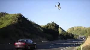 can you ride a motocross bike on the road california dirt bike rider jumps the 60 freeway in dangerous stunt
