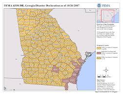 Ga Counties Map Georgia Hurricane Irma Dr 4338 Fema Gov