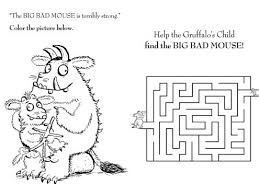 the gruffalo mouse maze u2013 sprout coloring pages for kids sprout