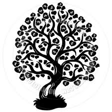 cartoon lime tree silhouette by clairev toon vectors eps 40638
