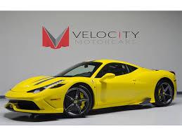 ferrari yellow interior 2014 ferrari 458 speciale for sale in nashville tn stock