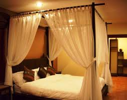 Curtain Beds Bedroom Astonishing Canopy Bed Curtain For With Green Also Cozy