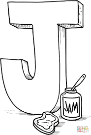 letter j is for jam coloring page free printable coloring pages