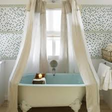 curtain rods wrap around inspiration for modern bathroom with