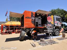 rally truck ktm service truck ready for dakar 2010 motorcycle usa