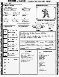 retro character sheet