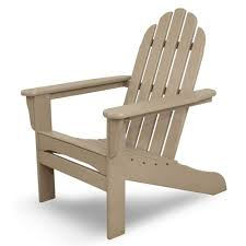 Home Depot Chairs Plastic Polywood South Beach Sand Plastic Patio Adirondack Chair Sba15sa