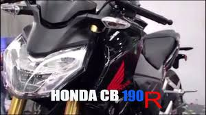 honda cb 190r 2017 black and red color u0026 specification youtube