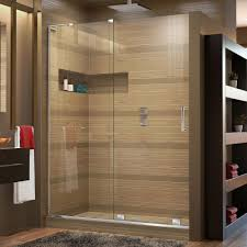 Leaking Frameless Shower Door by Vigo Pirouette 60 In X 72 In Frameless Pivot Shower Door With