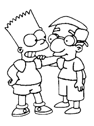 simpsons coloring pages funycoloring
