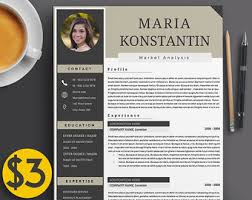 professional 3 page resume template cv extra page cover