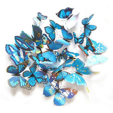 3d butterflies magnetic adhesive wall decals 12 pack