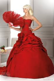 Red Wedding Dresses Hervé Mariage Wedding Dresses 2012 Wedding Inspirasi