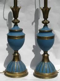 Vintage Brass Table Lamps Huge Pair French Blue Brass Table Lamps Mid Century Vintage Stiffel