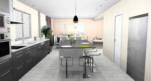 cuisine ouverte sur salle à manger chambre enfant cuisine ouverte moderne cuisine americaine semi