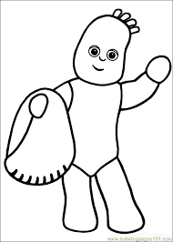 night garden coloring pages gabbys 1st bday