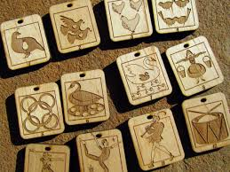wooden advent calender ornaments set of 24 put them in the